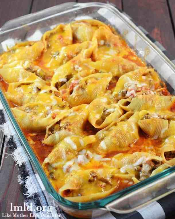 Mexican Stuffed Shells--Part of The Best Pull Stuffed Shells Recipes
