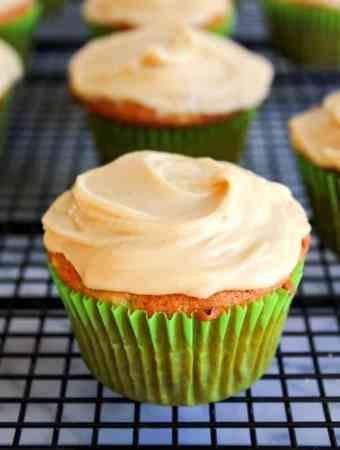Banana Cupcakes with Brown Sugar Frosting
