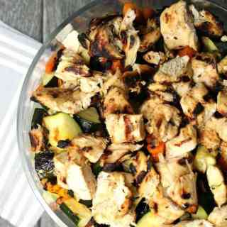 Layered Grilled Chicken Chopped Salad