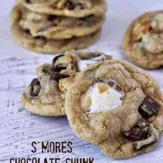 S'mores Chocolate Chunk Cookies