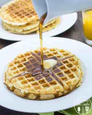 Do you love breakfast? I love it any time of day and definitely will be making these Golden Butter Waffles - crispy edges, golden and light in the middle! | Featured on The Best Blog Recipes