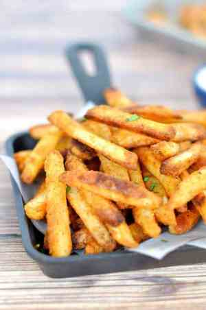 CRAB FRIES   This is an easy side dish with a secret ingredient that turns regular potatoes into something amazing! Featured on www.thebestblogrecipes.com