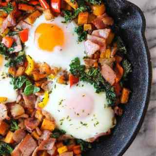 Bacon Kale Sweet Potato Hash