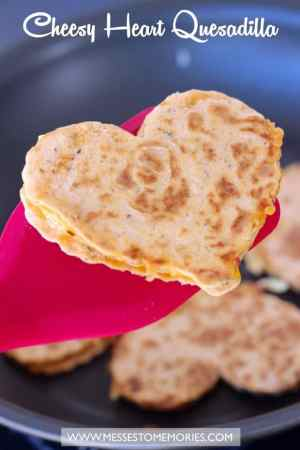 CHEESY HEART PESTO QUESADILLA | Featured on www.thebestblogrecipes.com