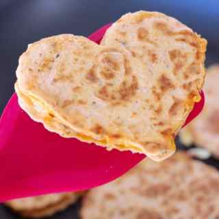 Cheesy Heart Pesto Quesadilla