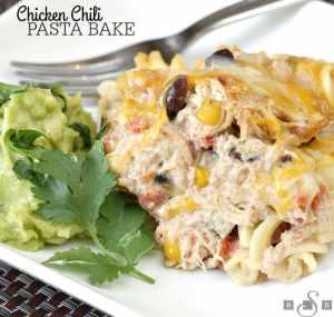 Chicken Chili Pasta Bake --