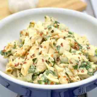 Creamy Garlic Spinach Chicken Pasta