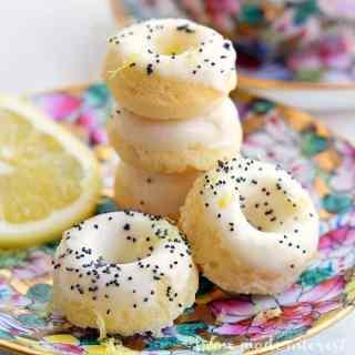 Mini Lemon Poppy Seed Doughnuts