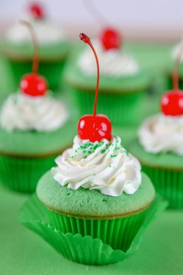 Shamrock Shake Cupcakes -- Part of The Best St. Patrick's Day Recipe