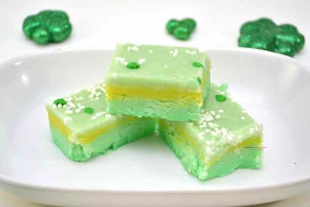 Lucky Leprechaun Fudge Dessert Recipe -- Part of The Best St. Patrick's Day Recipe