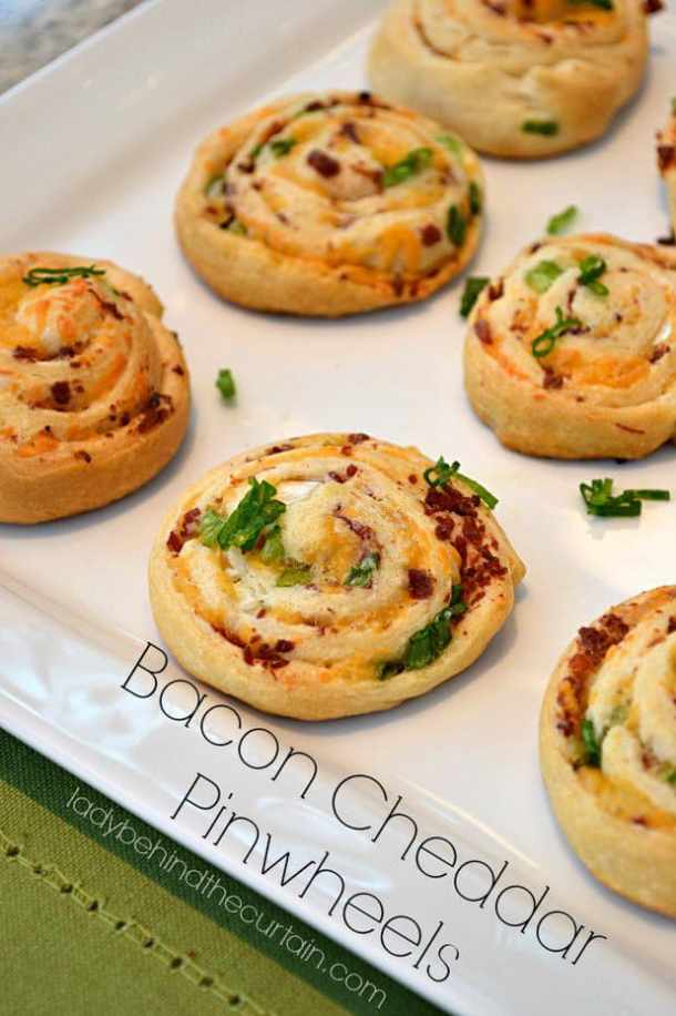 Bacon Cheddar Pinwheels -- part of The Best Pinwheel Recipes
