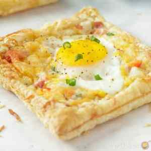 Breakfast Egg and Ham Puff Pastry