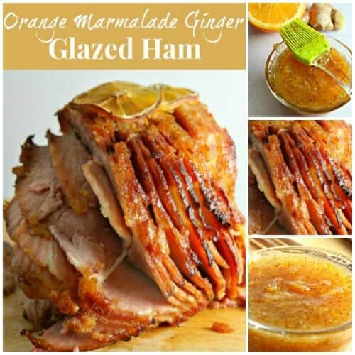 Orange Marmalade Ginger Glazed Ham