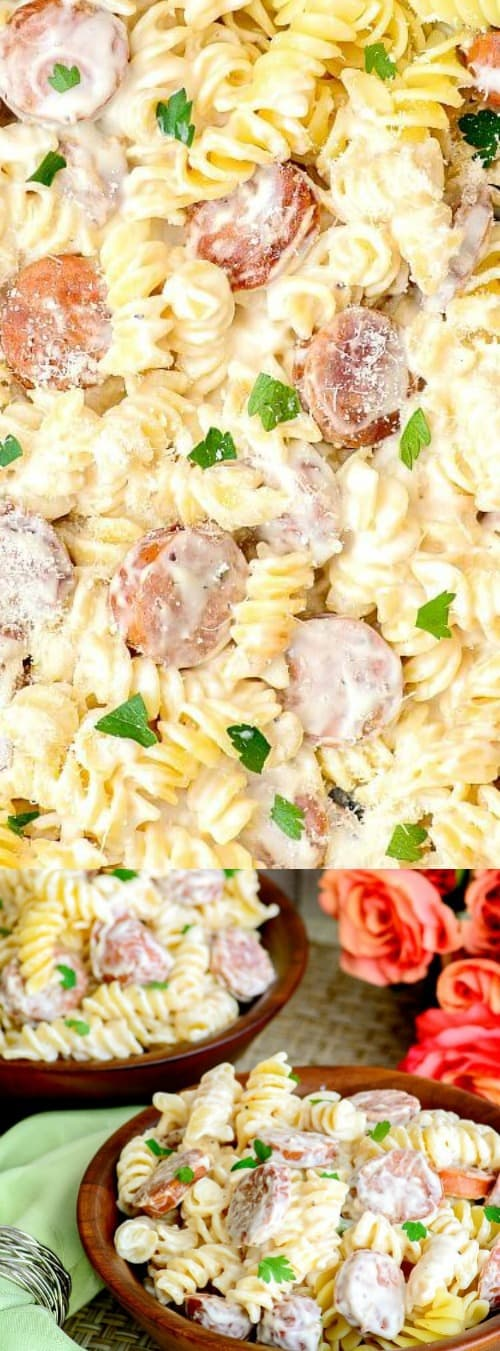 Spicy Sausage Alfredo for 2