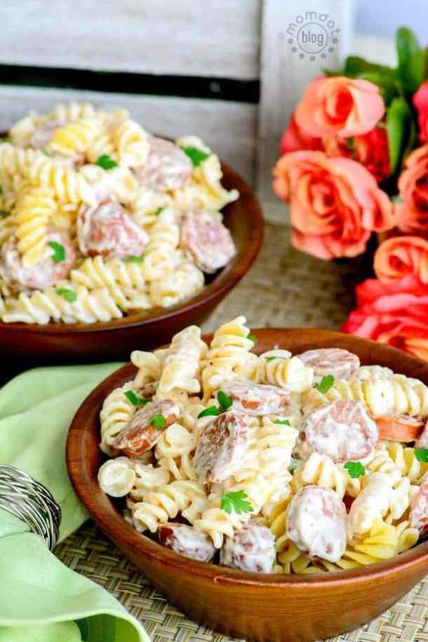 This Spicy Sausage Alfredo recipe is the perfect dinner recipe for two people! It's quick, easy and really delicious!!!