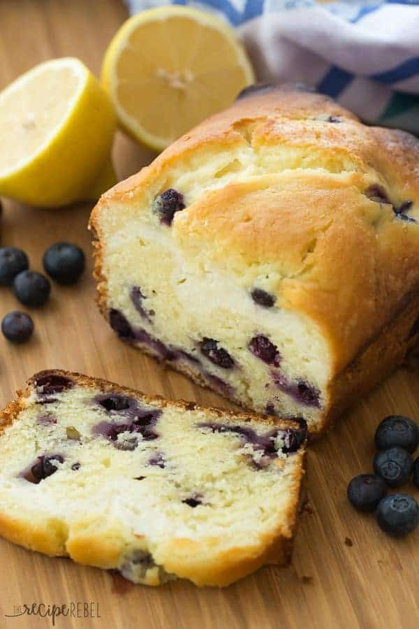 Cream Cheese Filled Blueberry Lemon Bread is sweet, tangy and filled with a decadent cheesecake layer! Let's call it breakfast or dessert