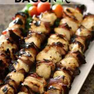 Bacon Ranch Chicken Kebabs
