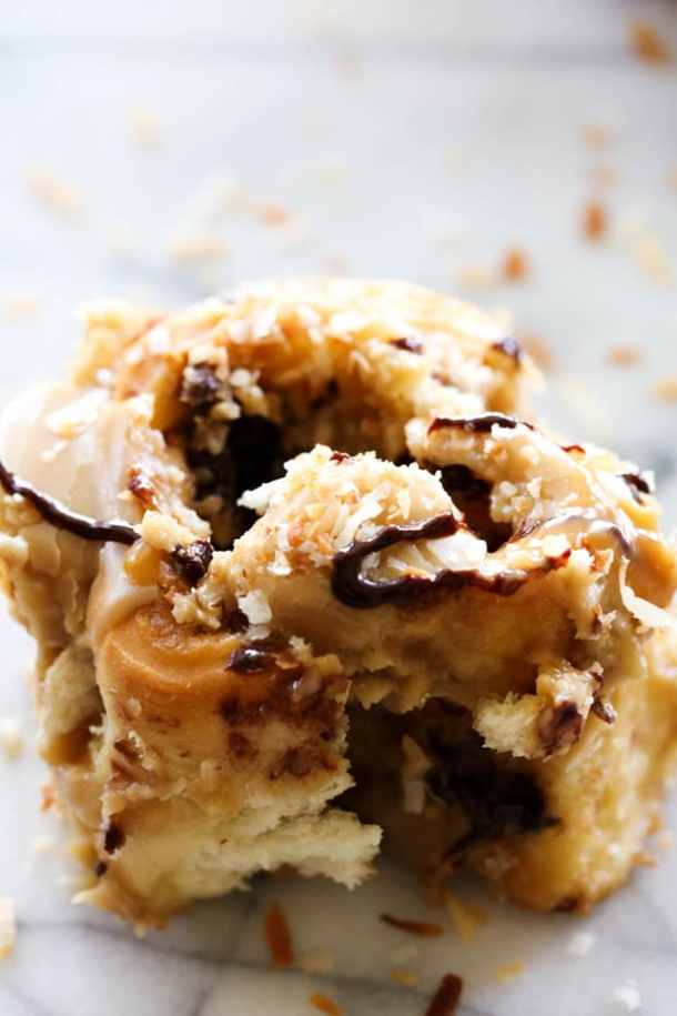 18. Samoa Sweet Rolls-- Part of 30 The Best Breakfast Sweet Rolls Recipes