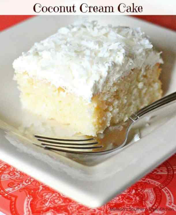 COCONUT CREAM CAKE --- 31+ COCONUT DESSERTS THAT WILL SATISFY YOUR SWEET TOOTH!