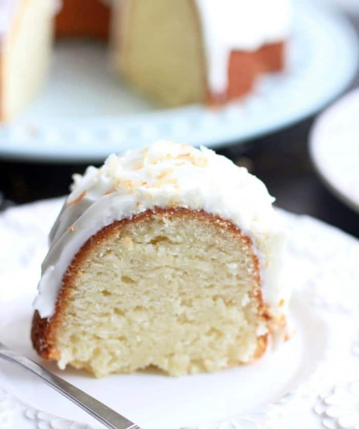 Incredibly moist, dense, and unbelievably good, this Coconut Bundt Cake is out of this world good and will completely knock your socks off. This is the best coconut cake I've ever eaten!!