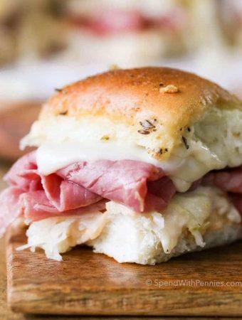 Reuben Sandwich Sliders -- The Best Sliders Recipe