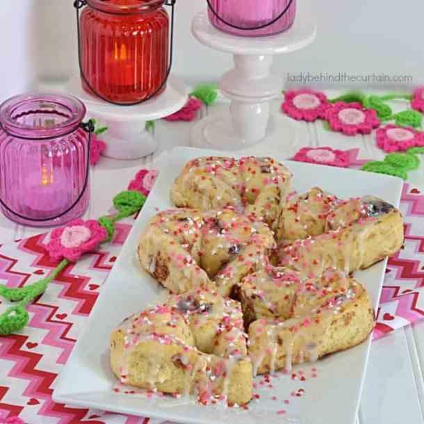 28. Sweetheart Cinnamon Rolls-- Part of 30 The Best Breakfast Sweet Rolls Recipes