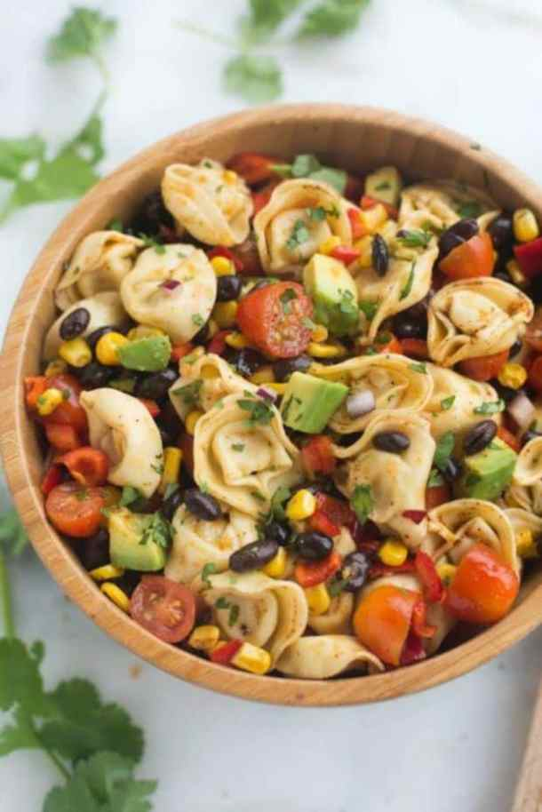 SOUTHWEST TORTELLINI PASTA SALAD -- 19+ PASTA SALADS TO BRING SUMMER BACK INTO YOUR LIFE