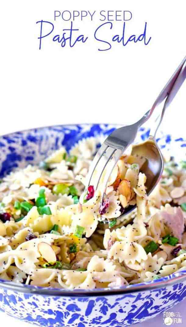 Chicken Poppy Seed Salad -- Part of our 19+ PASTA SALADS TO BRING SUMMER BACK INTO YOUR LIFE!