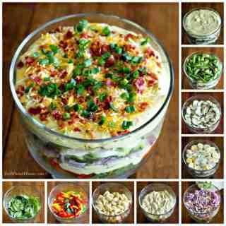 Creamy Deviled Egg Layered Pasta Salad