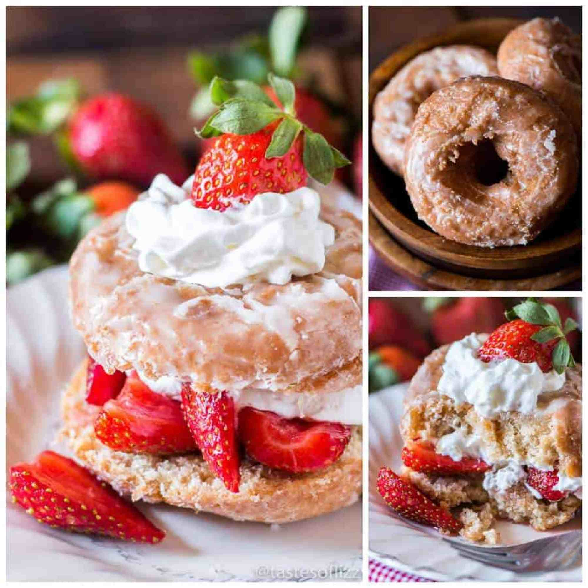 Easy Donut Strawberry Shortcake