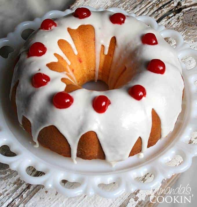 Maraschino Cherry Bundt Cake