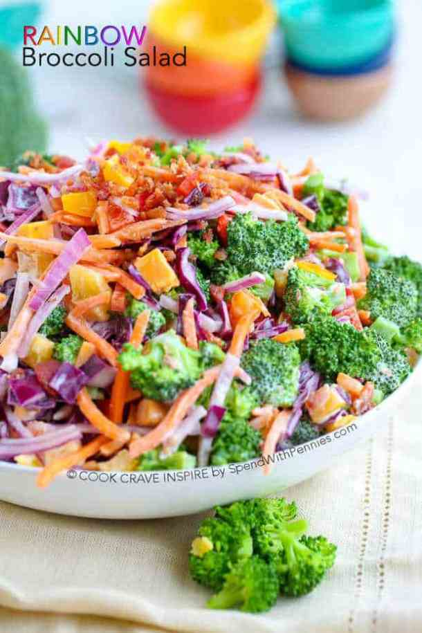 Rainbow Broccoli Salad -- part of The Best Picnic and Potluck Recipes