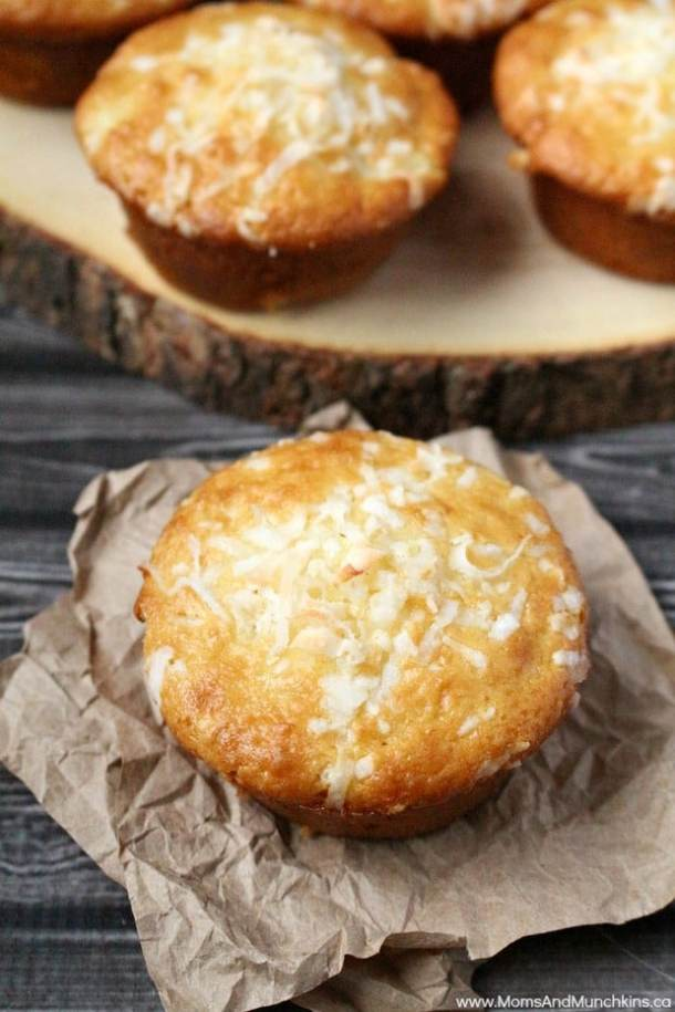 Pineapple Coconut Muffins (re-link)-- Part of 30 Pineapple Recipes for your Sweet Summertime Cravings