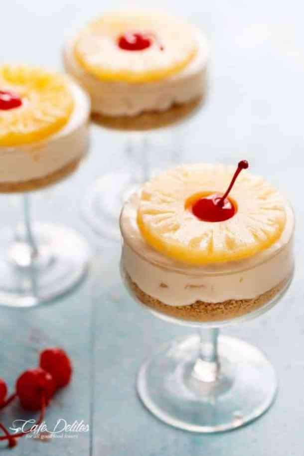 No-Bake Pineapple Cheesecakes (re-link)-- Part of 30 Pineapple Recipes for your Sweet Summertime Cravings