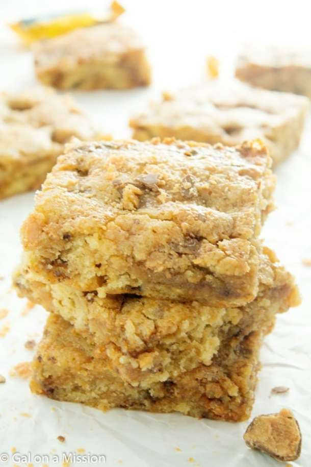 Butterfinger Blondies -- Part of The Best Butterfinger Recipes