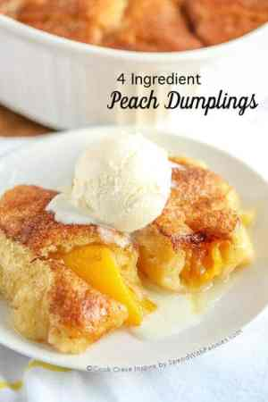 4 Ingredient Peach Dumplings