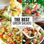 A salad can be so much more than just lettuce and dressing in a bowl! That's why we've rounded up 50+ of The Best Green Salad Recipes that will change the way you think about a salad for dinner!