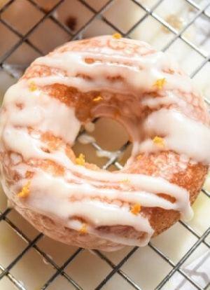 Cara Cara Orange and White Chocolate Glazed Doughnuts