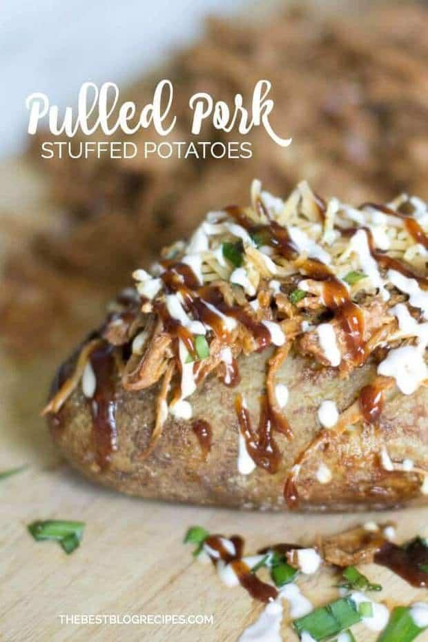 Pulled Pork Stuffed Baked Potatoes