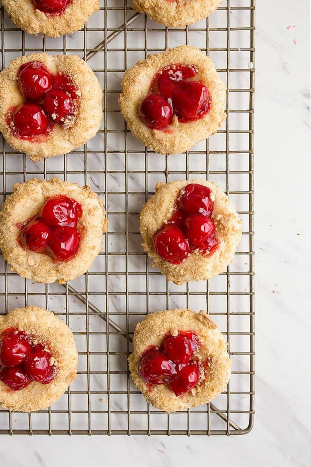 Cherry cheesecake cookies help you get your cheesecake fix in just one cookie bite.