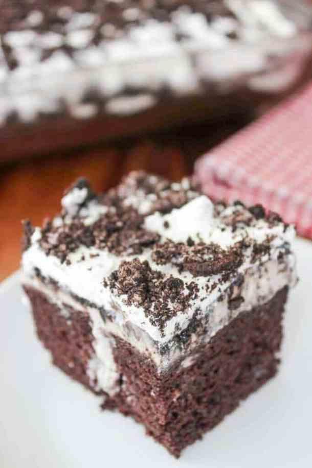 11 Oreo Poke Cake