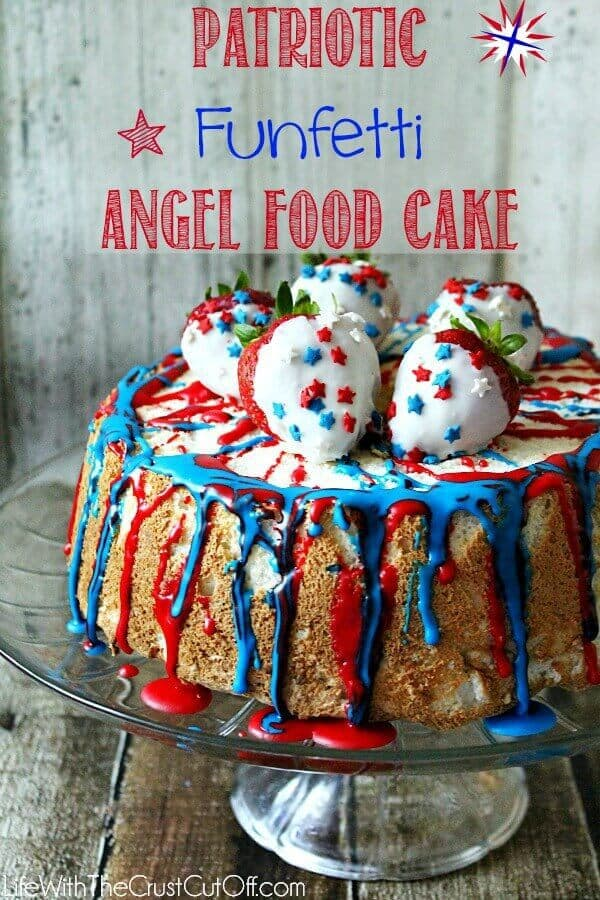 11 Patriotic Funfetti Angel Food Cake
