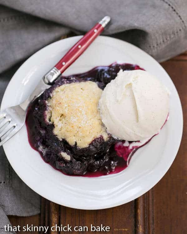 12 Grilled Blueberry Cobbler