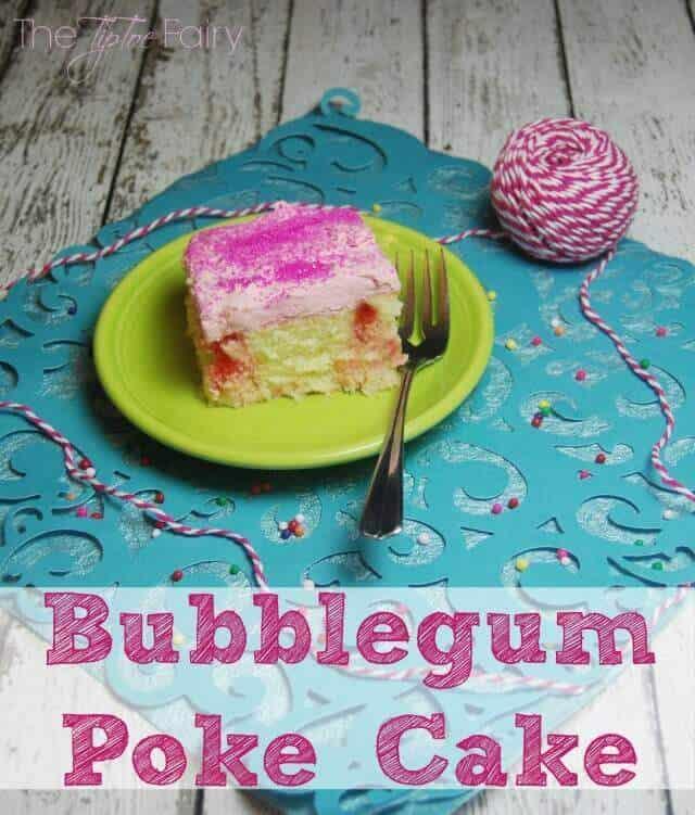 13 Bubblegum Poke Cake