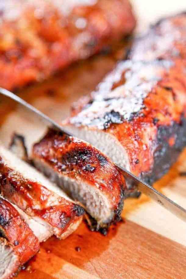 13 Grilled BBQ Pork Tenderloin