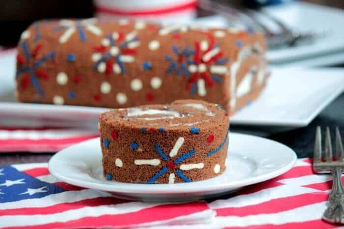 19 4th of July Fireworks Cake Roll