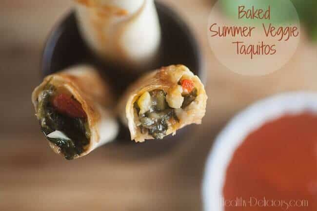 21 Baked Summer Vegetable Taquitos