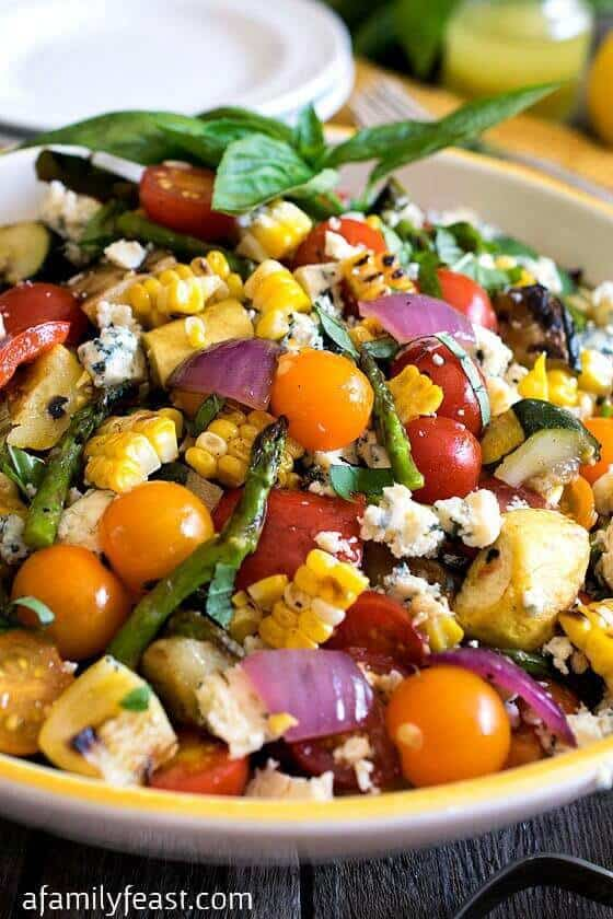 3 Grilled Summer Vegetable Salad