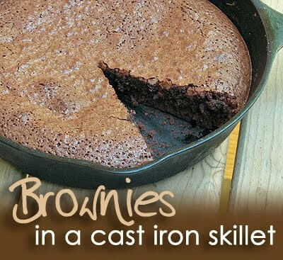 7 Brownies in a Cast Iron Skillet