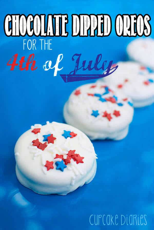 9 Chocolate Dipped Oreos for the 4th of July